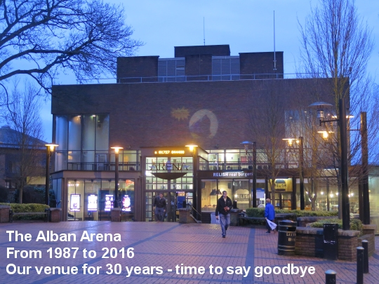 The Alban Arena, from 1987 to 2016, our venue for 30 years - Goodbye